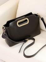 Leleshop2014 brief solid color genuine leather casual one shoulder handbag cross-body women's handbag chain