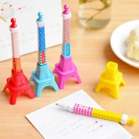 new 2015 kawaii eiffel tower shaped ball point pen korean stationery office school student supplies wholesale