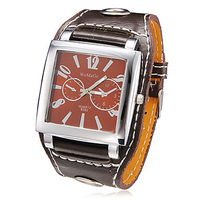 Free Shipping Sale Badace Brand Wrist Men Watch Date Display Square Dial PU Leather Strap High Quality Luxury Quartz Watch