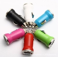 Mini USB car charger bullet car charger colorful USB car charger 1 A bullet car charger