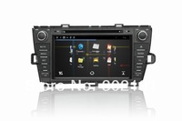 free shipping capacitive touch screen Toyota prius multimedia vadio player system