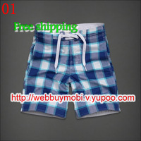 Wholesale Man shorts Surf Board Shorts No Rubber brand PANTS Man's shorts Beach summer Swim Pants net inside Free Shipping