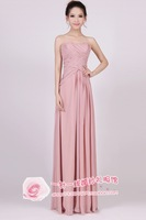 Sexy tube top nude long design chiffon bridal evening dress dinner party new arrival paragraph formal dress