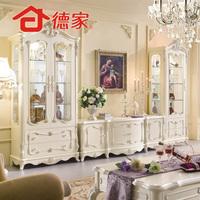 Fashion tv cabinet solid wood cabinet brief aigui French convoluting fashion living room furniture 24
