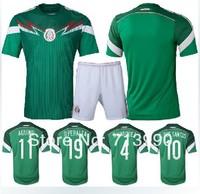 2014 world cup Mexico home green jerseys R.MARQUEZ 4 G. DOS SANTOS 10 customize O.PERALTA 19 2014 World Cup Mexico home jerseys