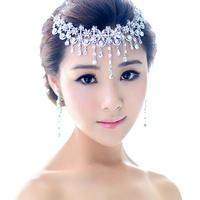 2014 Crystal Bridal Hair Jewelry Rhinestone Headbands Wedding Accessories Pageant Quinceanera Tiara Crown WIGO0144