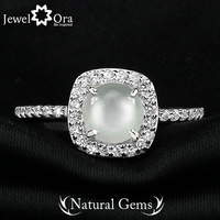 Fine Party Jewelry Natural Moonstone Ring [JewelOra #RI101286]  925 Sterling Silver Rings For Women