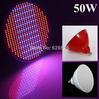 New Hydroponics Lighting AC85-265V 50W E27 RED/BLUE SMD 500 LEDS Led Plant Grow Lights Led Bulb Growth Lamp