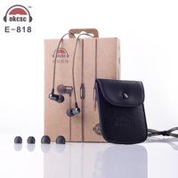 Okcsc E818 In Ear Circle Metal Earphones MP3 Pure Music Earphones Free Shipping