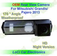 Free shipping! HD Rear View Mitsubishi Pajero/Grandis 2013 CCD night vision car reverse camera auto license plate light camera