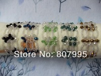 Free Shipping 2014 hot-selling women's fashion adjustable length Hand-beaded crystal bracelets