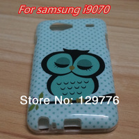 Cute Owl Design Soft TPU Skin Case Cover for Samsung i9070 I9070 Free shippng & wholesale