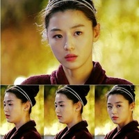You Who Came From The Star]Gianna Jun Blouse Korean TV  Bling elastic hair band hair