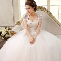 New arrival 2014 wedding formal dress slit neckline vintage bridal lace maternity wedding dress