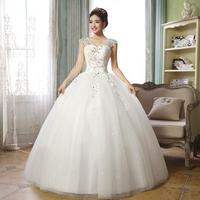 2014 slit neckline bag bride white strap spring wedding dress h62
