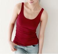 new 2014 Free Shipping 3pcs free shipping .Temperament cotton long T-shirt vest manys Colours, tanks & camis