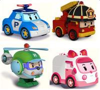 4PCS/SET 2014 Hot sales Baby Toys Korean Anime Robocar poli transforming robot Toys Thomas Toys toys for children Free shipping