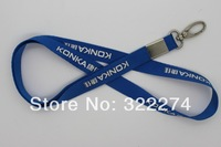 "Custom royal blue 5/8"" flat polyetser lanyard,promotion logo imprint cheap convention meeting party phone ID lanyards"