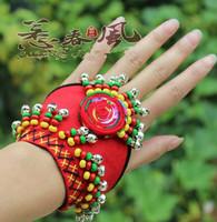 Free Shipping ! trend  national style handmade bracelet wrist length wrist support cloth bell bracelet