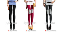 2014 Spring New Arrive Women's Clothing Skinny Lightweight Patchwork Waist Lady's Casual Pants 3 Colors VQ489