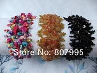 Free Shipping 2014 hot-selling women's fashion adjustable length Hand-beaded crushed stone  bracelets