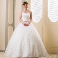 2013 sweet princess strap tube top diamond decoration brief bride wedding