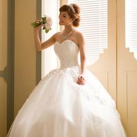 2013 sweet princess strap tube top slim bride wedding skirt lace decoration