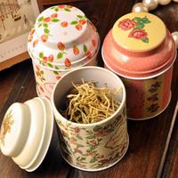 Japanese style vintage mini storage tank portable sealed  tin tea box 7062  (ZM)