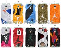 2014 New design 10pcs/lots jordan sole shoes hard white case cover for samsung S4 (i9500)