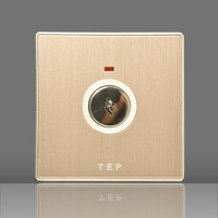 Tep switch socket panel aluminum magnesium alloy l series voice delay switch gold