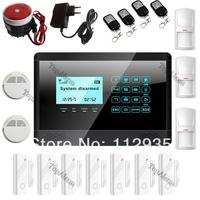 black color ~GSM SMS Home Burglar Security Alarm System Detector Sensor shop alarm security+fire smoke alarm