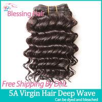 Hot Sale 3pcs lot Queen Brazilian Deep Curly Virgin Human Hair Weaves Can Be Dyed Brazilian Virgin Hair Deep Wave,5A Rosa Hair
