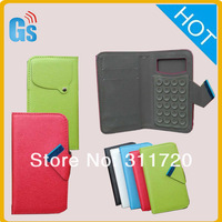 For Archos 50 Platinum  Pu Leather Flip Universal Phone Case  for blu advance 4.0