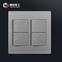 Wall switch socket panel stainless steel 120 switch socket double control switch