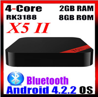 Cheapest slim RK3188 XBMC X5II android tv Box With remote controller XBMC mini android tx box