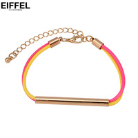Elegant girl bracelet knitted rope fashion vintage alloy brief candy color accessories