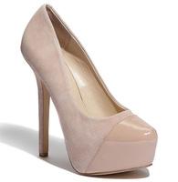New 2014  thin heels japanned leather sheepskin nude color platform fashion high-heeled single shoes women's shoes