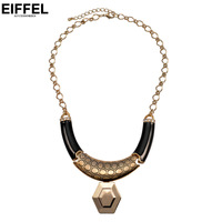 Fashion small accessories alloy geometry pendant royal vintage exaggerated necklace female short design clothes accessories