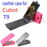 Protective Leather Flip Case Cover for Cubot T9 Smartphone 3-color