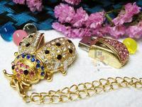 diamond jewelry usb pen drive Beetle animal crystal 4gb 8gb 16gb 32gb usb flash drive memory Stick cartoon flash drive