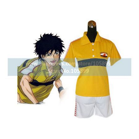 Prince Of Tennis Rikkai Junior High School Summer Uniform Cosplay Costume(China (Mainland))