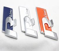 Free Shipping (5pieces/lot)  3D Metal Rline Car Logo /Emblem /Badge,Top Quality Car Sticker For  VW