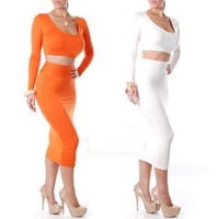 2014 New Arrival ! New Fashion Lady Evening Cropped Outfit Dress Empire Spring Slim Fit Bodycon Dress10063 Free Shipping