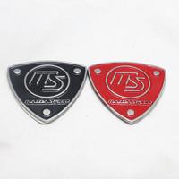 Free Shipping (5pieces/lot)  3D Metal MS Car Logo /Emblem /Badge,Top Quality Car Sticker For  Mazda