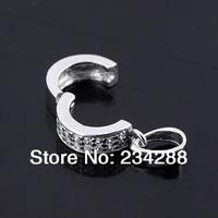 2014 new fashion Diy crystal 925 pure silver double diamond platinum clip o buckle silver pendant buckle unique net