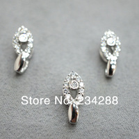 2014 diy new fashion 925 pure silver zircon diy accessories clip fresh fashion buckle pendant free shipping