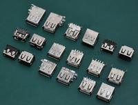 (9 model /90 pcs/lot) Common Female USB Connector fit for PC, Laptop, Vehicle Navigation