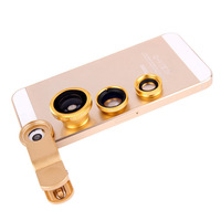 Universal 180 Fisheye + Wide Angle + Macro Mobile Phone Camera Lens for Samsung Galaxy S4 N7100 Note 3 iPhone 6 Plus 5 5G 5S