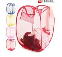 Free shipping wholesale/retail storage basket folding basket  dirty clothes basket 32*32*52cm