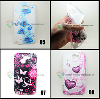 10 PCS /lot free shipping Flower Butterfly Jellyfish Heart Star dog Soft Case Skin for Samsung Galaxy Note 2 N7100